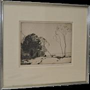 Chauncey F. Ryder (1868-1949) Drypoint Etching c.1927