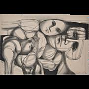 Arnold Belkin (1930-1992) Vintage Lithograph c.1964