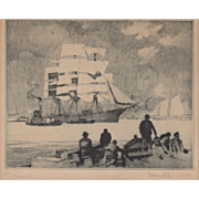 "Gordon Grant ""Home Port"" Lithograph c.19"