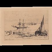 Sir Francis Seymour Haden Etching c.1870