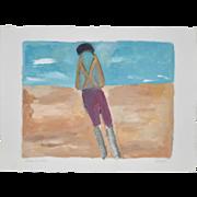 "Arthur Krakower ""Alone in Nice"" Painting c.2005"