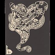 Wassily Kandinsky Woodcut c.1960s