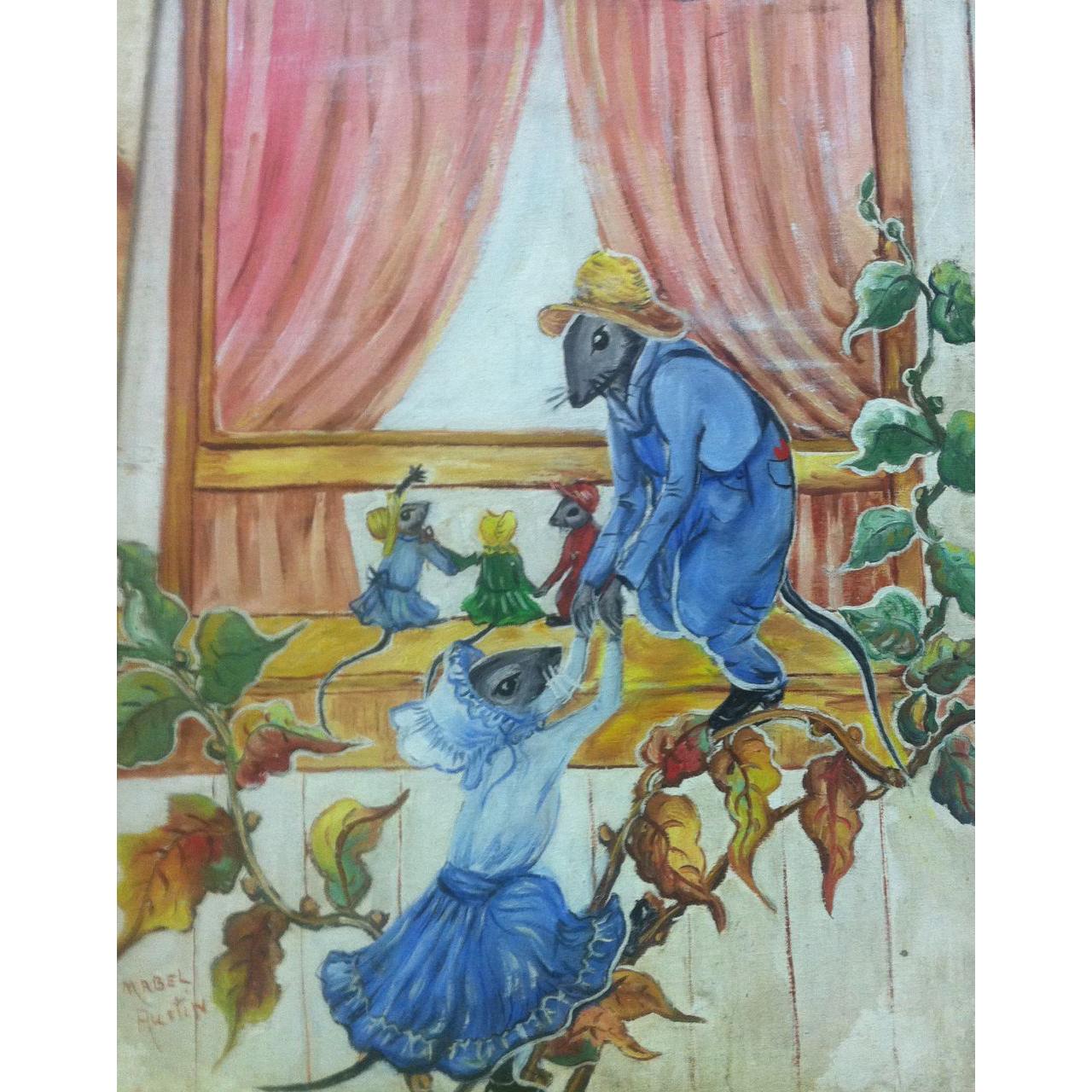 Charming Vintage Folk Art Mice By Mabel Austin C 1940 S