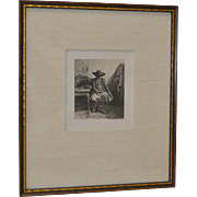 Charles Emile Jacque (1819 - 1894) Etching c.1844