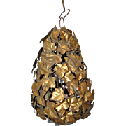 Mid Century Gilded Ivy Cage Chandelier c.1950