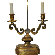 Brass Two Arm Table Lamp c.1950