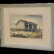 Chapman William Mid Century Watercolor c.1950s
