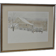 Tennessee Winter Landscape Watercolor by Xavier Ironside