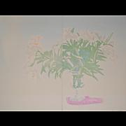 Gary Bukovnik Diptych Floral Lithograph c.1983