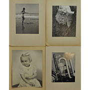 Lot of Four Vintage Black & White Studio Photographs by Dunckhorst 1940s