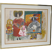 Theo Tobiasse Color Lithograph c.1980s