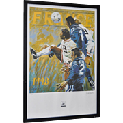 FRANCE World Cup Lithograph by Aldo Luongo c.1998