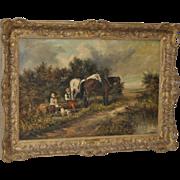 19th Century Oil Painting by John Locker