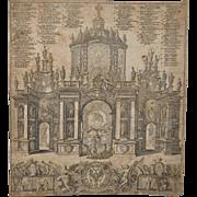 Late 17th Century Engraving by Johann Ulrich Krauss