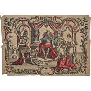 """Hand Colored Engraving """"Judgment of Salomon"""" 18th / 19th c."""