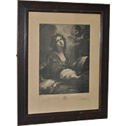 "18th Century Engraving ""St. Cecilia"" c.1794"