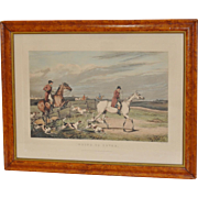 """Going to Cover"" Hand Colored Engraving c.1828"