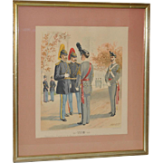 U.S. Military Academy Color Lithograph c.1888