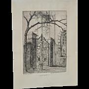Elizabeth O'Neill Verner (1883-1979) Rare Etching c.1920s
