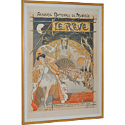 French Ballet Poster by Theophile Steinlen c.1900