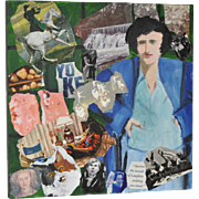 Thom Lafferty (1923-2013) Original Mixed Media Collage Painting c.1990