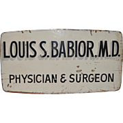 Vintage Medical Advertising Sign c.1950