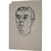 "William Littlefield ""Man"" Original Pen & Ink c.1930s"