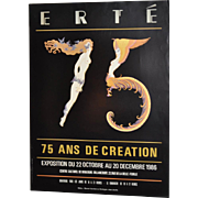 Erte 75 French Exhibition Poster c.1986