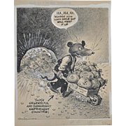 Vaughn Shoemaker WW II Political Cartoon c.1940