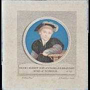 Henry, Eldest Son of Charles Brandon Miniature Engraving c.1798