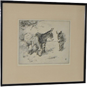 Winifred Austen (1876-1964) Pencil Signed Etching c.1920s