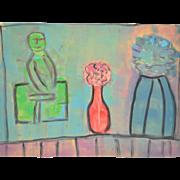 Arthur Krakower (1921-2009) Original Neon Still Life c.2005