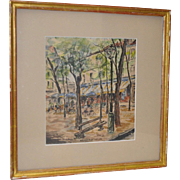 Roland Batchelor 1899-1990 Original PARIS Watercolor c.1930