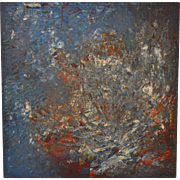 Vintage 1960s Abstract Painting by Nelson
