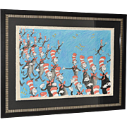 """Dr Suess """"SINGING CATS"""" Limited Edition Estate Serigraph"""