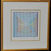 YAACOV AGAM Pencil Signed Lithograph