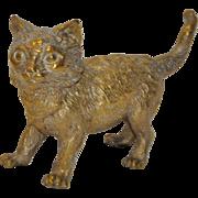 Franz Bergman Cold Painted Bronze Cat 19th c.