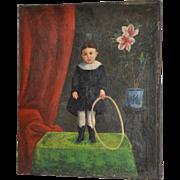 19th Century American Folk Art Painting