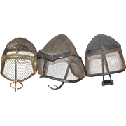Lot of Three Early 20th Century Fencing Helmets