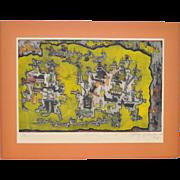 Ynez Johnston (b.1920) Etching w/ Aquatint c.1964