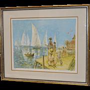 Jacques Lalande Signed Lithograph c.1970s