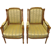 Pair of French Empire Style Chairs c.1910