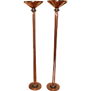 Pair of Copper Floor Lamps