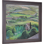 "Linda Carey ""Below Orvieto"" Original Pastel Painting c.2006"