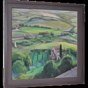 "Linda Carey ""Below Orvieto"" Original Pastel Painting c.2006"