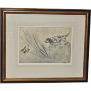 Henry Wilkinson (1921-2011) Sporting Dog Etching