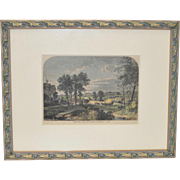 19th Century Hand Colored Engraving by William Prior