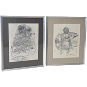 John Young (Hawaii, 1909-1997) Original Graphite Drawings c.1969