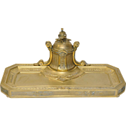 French Bronze Inkwell c.1890