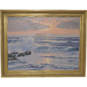Coastal Seascape Painting by R. Lorenz